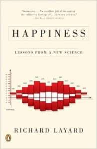Picture of the cover of <em>Happiness: Lessons From a New Science.</em>