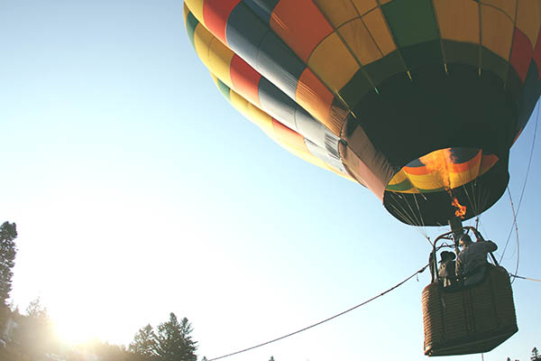 Hot air balloons take people on adventures. Books do, too.